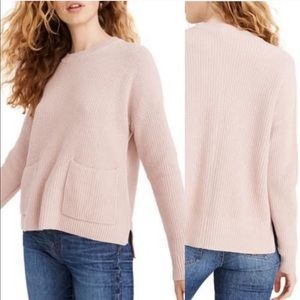 Madewell Patch Pocket Ribbed Pullover Sweater